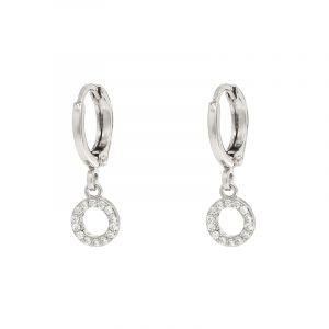 oorbellen sparkling circl zilver