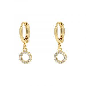 oorbellen sparkling circle goud zilver