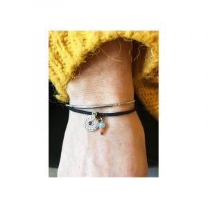 armband koord, stainless steel