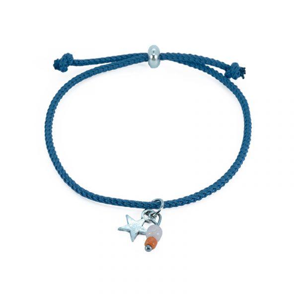 koord armband blauw