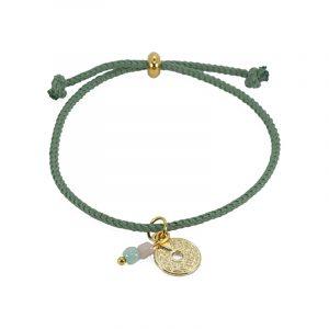 koord armband groen