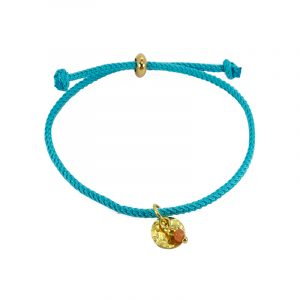 koord armband turquoise