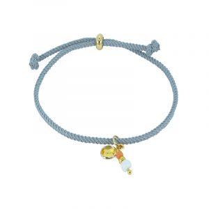 koord armband grijs