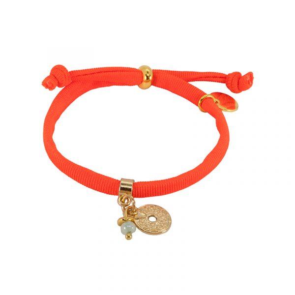 Elastiek armband oranje
