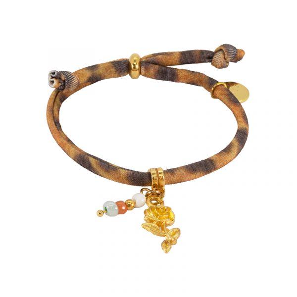 elastiek panter armband