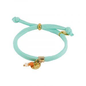 zomer armband elastiek mint
