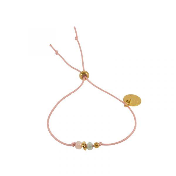 Armband elastiek met kraaltjes