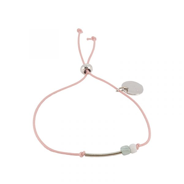Armband elastiek roze