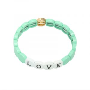 armband colourful love mint