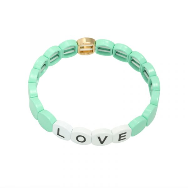armband colourful love mint