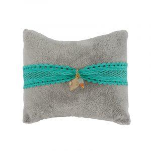 Ibiza armband turquoise met bedel