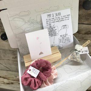 cadeau doosje geluk roze
