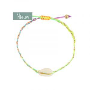 schelp armband regenboog kleuren