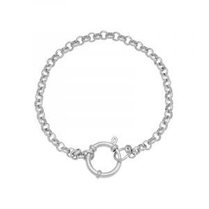 armband stainless steel chain rylee zilver