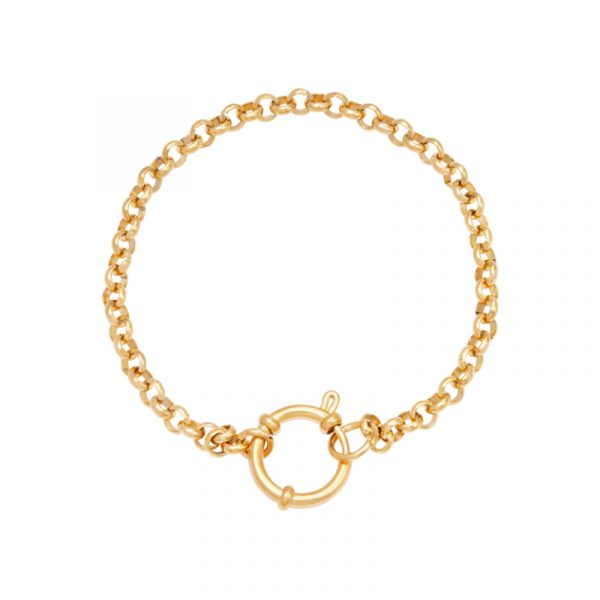 armband stainless steel chain rylee goud