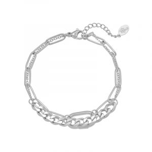 Armband Chains Two In One zilver
