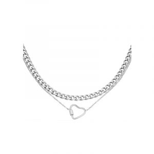 ketting chained heart zilver