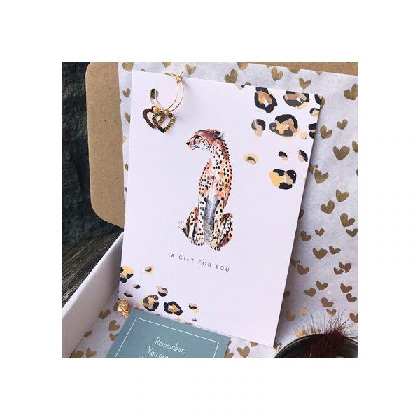 kaart chita met oorbellen