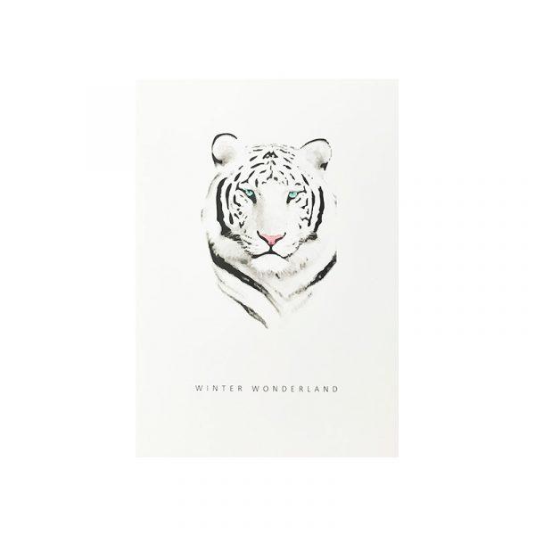 kaart met zwart wit tijger