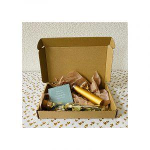 Giftbox droogbloem buisje en parfumverstuiver