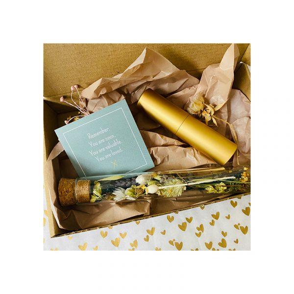 Giftbox droogbloembuisje en parfumverstuiver