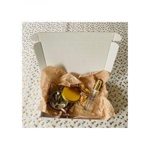 Giftbox Goud met droogbloemen en parfum