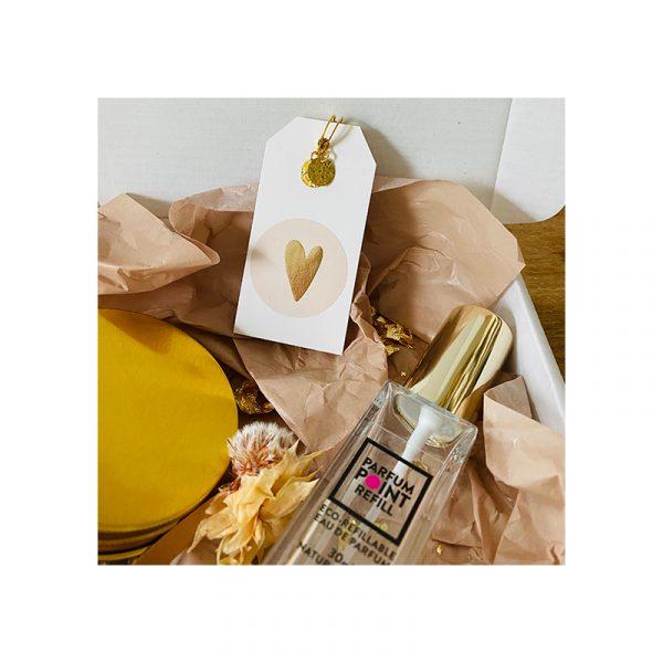Giftbox Goud, parfum en oorbellen